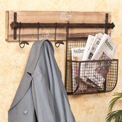 Hampton Entryway Wall Coat Rack with Storage