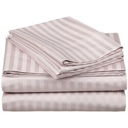 650 Thread Count Egyptian Cotton Queen Waterbed Stripe Sheet Set