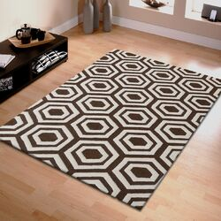 Superior Hand Tufted Brown/Ivory Indoor Area Rug