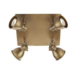 Dar Lighting Idaho 4 Light Plate Ceiling Spotlight
