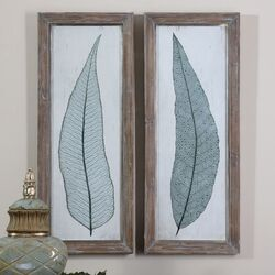 Tall Leaves 2 Piece Framed Painting Print Set by Uttermost