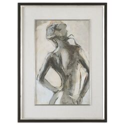 Gesture Feminine by Grace Feyock Framed Original Paintings in Black and White