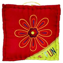 Sunshine Floor Pillow in Bright Colors