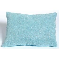 Beaded Decorative Pillow in Blue