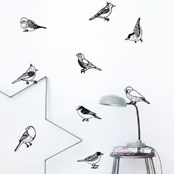 Drawing Birds Wall Decal