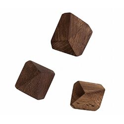 Wooden Diamond Hooks (Set of 3)