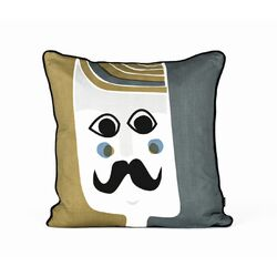 Mr. Cushion Silk Accent Pillow