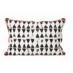 Worn Triangle Print Cushion