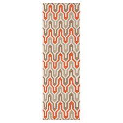 Klein Orange/Red Area Rug