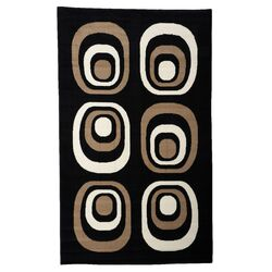 Capri Black & Tan Area Rug