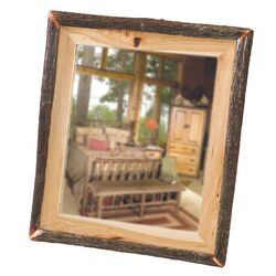 Hickory Log Wall Mirror