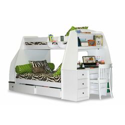 Enterprise Twin over Full Bunk Bed with Desk and Storage