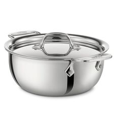 Stainless Steel 3-qt. Aluminum Round Dutch Oven