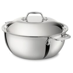 Stainless Steel 5.5 Qt. Round Dutch Oven