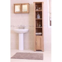 Baumhaus Mobel Large Wall Mounted Bathroom Cabinet in Oak