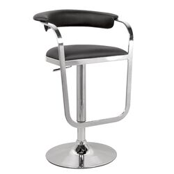 Adjustable Height Swivel Stool in Chrome