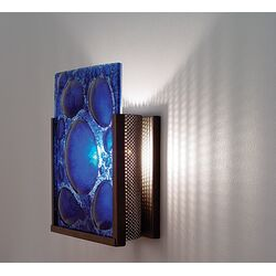 FNJudy Wall Sconce with Textured Cast Glass Panel and Partial Side Diffuser