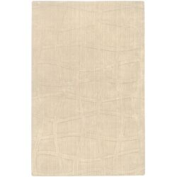 Sculpture Ivory Checked Area Rug