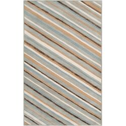 Modern Classics Pigeon Gray Stripes Rug