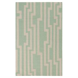 Market Place Pale Aqua Green Rug
