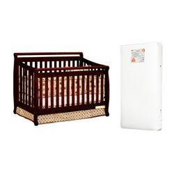 Amy 3-in-1 Crib w/ Toddler Guardrail and Organic 260-coil Mattress