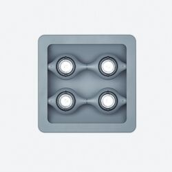 Space Four Light Square Recessed Light