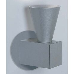 Circe One Light Wall Sconce in Metallic Gray