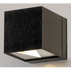 Dau Wall Sconce in Black Satin Aluminum