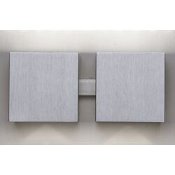 Dau Two Light Wall Sconce in Aluminum