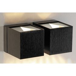 Dau Two Light Wall Sconce in Black Satin Aluminum