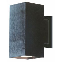 Dau Doble Wall Sconce in Black Satin Aluminum