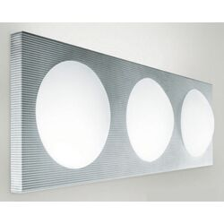Dome Three Light Wall Sconce in Silver Gray