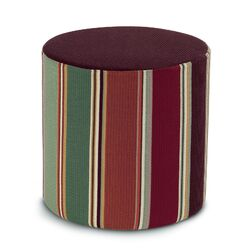 Noria Patchwork Cylindrical Pouf Ottoman
