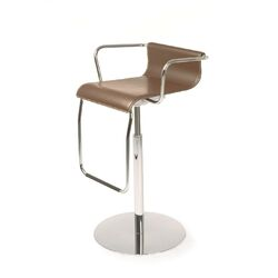 Vertigo Leather Adjustable Stool (Set of 2)