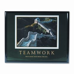 'Teamwork/Great Wall Of China' Framed Photographic Print