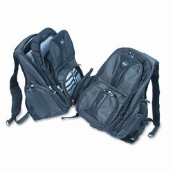 Contour Notebook Backpack, Nylon, 15 3/4 x 9 x 19 1/2, Black
