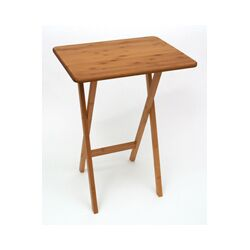 Bamboo Rectangular Snack Tray Table