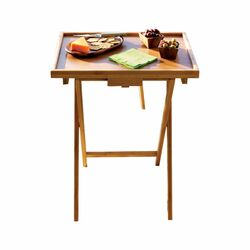 Bamboo Snack TV Tray Table