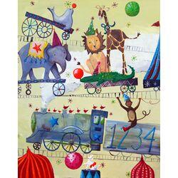 Circus Train Paper Print