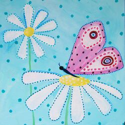 Patchwork Daisy Daisy Paper Print