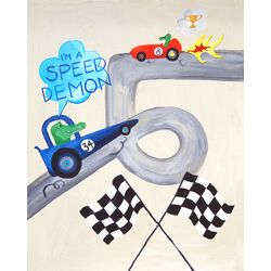 Words of Wisdom I'm a Speed Demon Paper Print