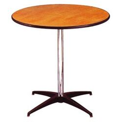 Round Pedestal Plywood Table