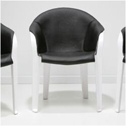Leather and Plastic Arm Chair