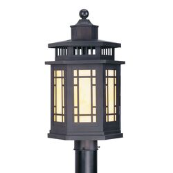 Mirror Lake Outdoor Post Lantern in Bronze