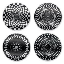 Moire Coaster in Black/White