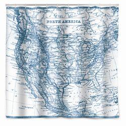 Vintage Map Shower Curtain