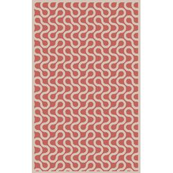 Native Coral/Ivory Geometric Rug