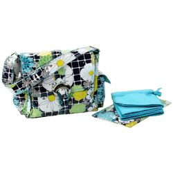 Coated Midi Buckle Diaper Bag