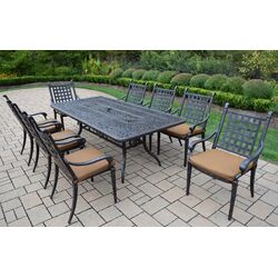 Table 29 h x 35 w x 59 l - Outdoor interiors 7 piece patio set ...