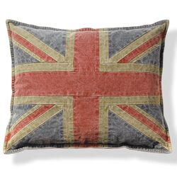 Union Jack Cotton Throw Pillow (Set of 2)